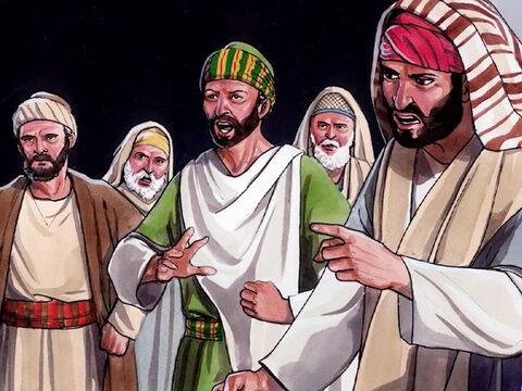 """They heaped insults on him, saying, 'You are His disciple! We are disciples of Moses! We know that God has spoken to Moses! We do not know where this man Jesus comes from!"""" – Slide 5"""