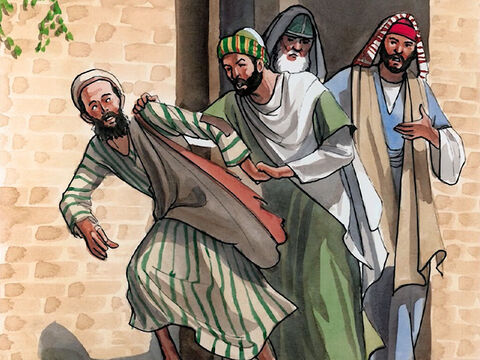 They replied, 'You were born completely in sinfulness, and yet you presume to teach us?' So they threw him out of the synagogue. – Slide 8