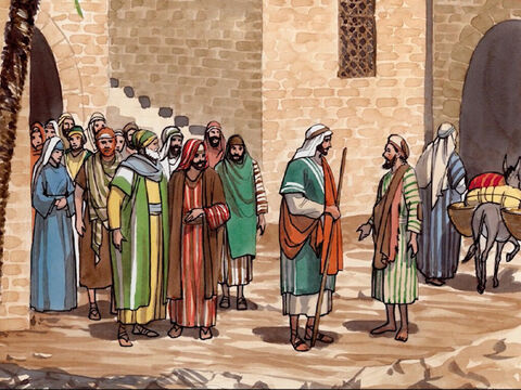 Jesus heard that they had thrown him out, so He found the man and said to him, 'Do you believe in the Son of Man?' <br/>The man replied, 'And who is He, sir, that I may believe in Him?' <br/>Jesus told him, 'You have seen Him. He is the one speaking with you.' – Slide 9