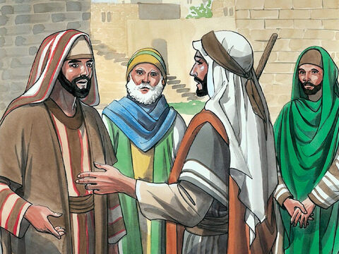 Some of the Pharisees who were with Him heard this and asked him, 'We are not blind too, are we?' <br/>Jesus replied, 'If you were blind, you would not be guilty of sin, but now because you claim that you can see, your guilt remains.' – Slide 11