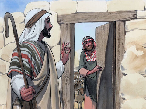 'I am the door for the sheep. All who came before me were thieves and robbers, but the sheep did not listen to them. – Slide 6
