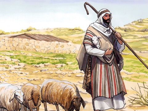 'I am the door. If anyone enters through me, he will be saved, and will come in and go out, and find pasture. – Slide 7