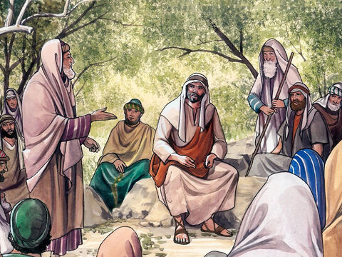 Now an expert in religious law stood up to test Jesus, saying, 'Teacher, what must I do to inherit eternal life?' Jesus said to him, 'What is written in the law? How do you understand it?' – Slide 1