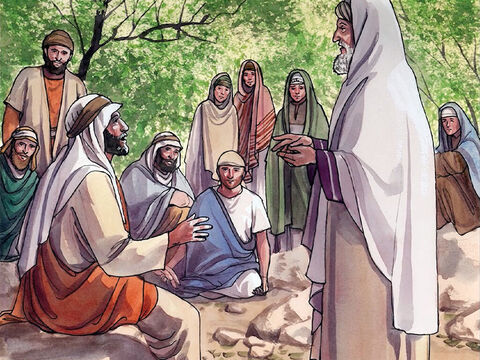 Jesus then asked, 'Which of these three do you think became a neighbour to the man who fell into the hands of the robbers?' – Slide 15