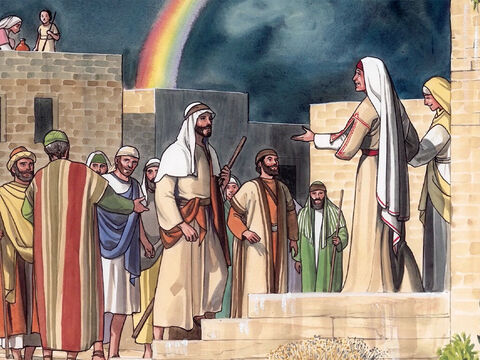 Now as they went on their way, Jesus entered a certain village. – Slide 1