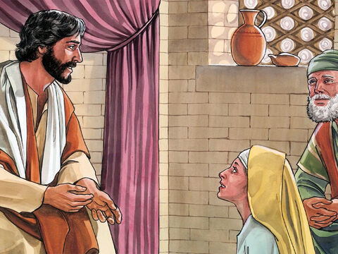 She had a sister named Mary, who sat the Lord's feet and listened to what He said. – Slide 3