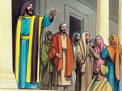 But the president of the synagogue, indignant because Jesus had healed on the Sabbath, said to the crowd, 'There are six days on which work should be done! So come and be healed on those days, and not on the Sabbath day.' – Slide 5