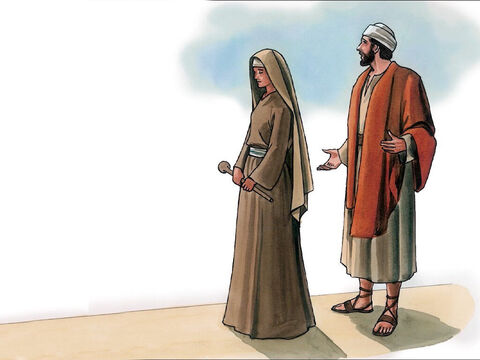 'Then shouldn't this woman, a daughter of Abraham whom Satan bound for eighteen long years, be released from this imprisonment on the Sabbath day?' – Slide 7