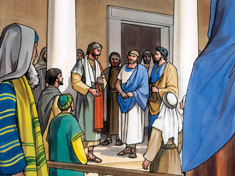 Jesus also said to the disciples, 'There was a rich man who was informed of accusations that his manager was wasting his assets. – Slide 1