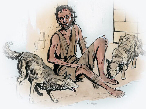 'And Lazarus likewise bad things, but now he is comforted here and you are in anguish. – Slide 6