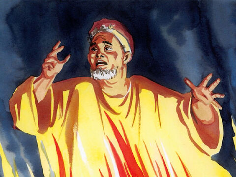 Then the rich man said, 'No, father Abraham, but if someone from the dead goes to them, they will repent.' – Slide 11