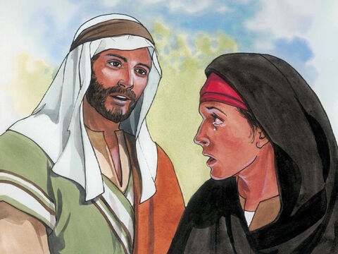 Martha said to Jesus, 'Lord, if you had been here, my brother would not have died. But even now I know that whatever you ask from God, God will grant you.' <br/>Jesus replied, 'Your brother will come back to life again.' – Slide 11
