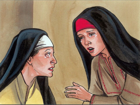 And when she had said this, Martha went and called her sister Mary, saying privately, 'The Teacher is here and is asking for you.' – Slide 4