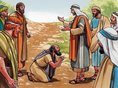 Then Jesus said, 'Were not ten cleansed? Where are the other nine? Was no one found to turn back and give praise to God except this foreigner?' Then He said to the man, 'Get up and go your way. Your faith has made you well.' – Slide 5