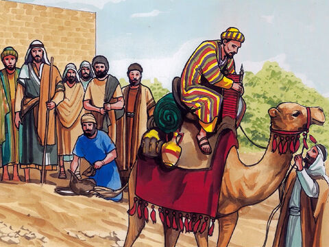 Then Jesus said to His disciples, 'I tell you the truth, it will be hard for a rich person to enter the kingdom of heaven! Again I say, it is easier for a camel to go through the eye of a needle than for a rich person to enter into the kingdom of God.' – Slide 8