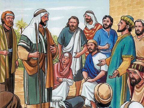 The disciples were greatly astonished when they heard this and said, 'Then who can be saved?' Jesus looked at them and replied, 'This is impossible for mere humans, but for God all things are possible.' – Slide 9