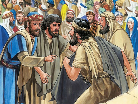 So Jesus stopped and ordered the beggar to be brought to Him. – Slide 5