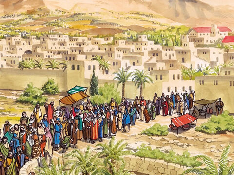 Jesus entered Jericho and was passing through it. – Slide 1