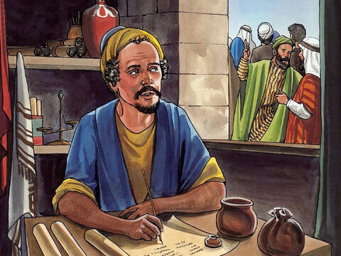 Now a man named Zacchaeus was there; he was a chief tax collector and was rich. – Slide 2