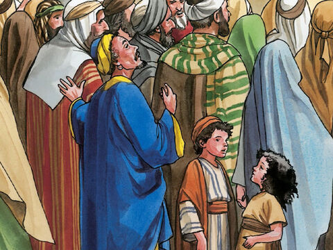 He was trying to get a look at Jesus, but being a short man he could not see over the crowd. – Slide 3