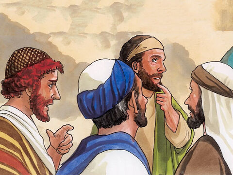 And when the people saw it, they all complained, 'He has gone in to be the guest of a man who is a sinner.' – Slide 7