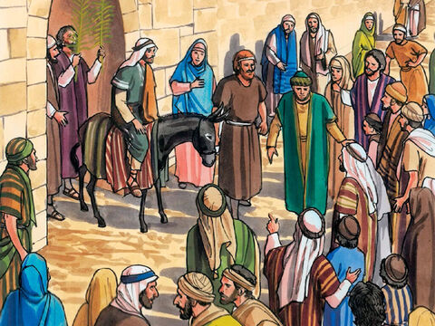 As He entered Jerusalem the whole city was thrown into an uproar, saying, 'Who is this?' And the crowds were saying, 'This is the prophet Jesus, from Nazareth in Galilee.' – Slide 8