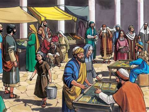 Then they came to Jerusalem. Jesus entered the temple area and began to drive out those who were selling and buying in the temple courts. – Slide 3