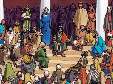 """Then Jesus began to teach them and said, 'Is it not written: """"My house will be called a house of prayer for all nations""""? But you have turned it into a den of robbers!' – Slide 5"""