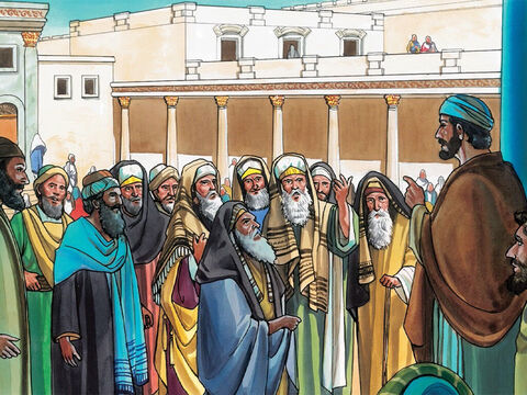 They came again to Jerusalem. While Jesus was walking in the temple courts, the chief priests, the experts in the law, and the elders came up to him and said, 'By what authority are you doing these things? Or who gave you this authority to do these things?' – Slide 11