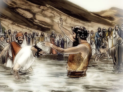 Jesus said to them, 'I will ask you one question. Answer me and I will tell you by what authority I do these things: John's baptism – was it from heaven or from people? Answer me.' – Slide 12