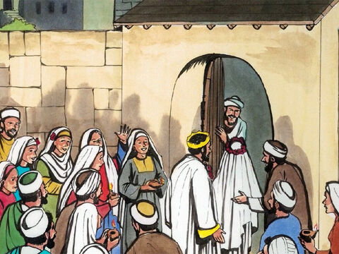 'But while they had gone to buy it, the bridegroom arrived… – Slide 10