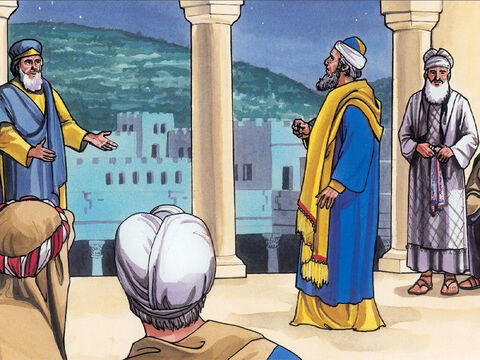Then the chief priests and the elders of the people met together in the palace of the high priest, who was named Caiaphas. – Slide 3