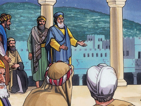 They planned to arrest Jesus by stealth and kill Him. But they said, 'Not during the feast, so that there won't be a riot among the people.' – Slide 4
