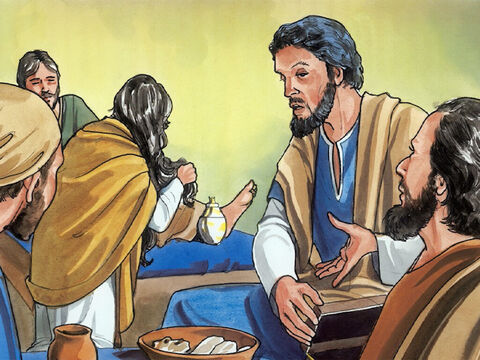 But Judas Iscariot, one of His disciples (the one who was going to betray him) said, 'Why wasn't this oil sold for three hundred silver coins and the money given to the poor?' – Slide 4