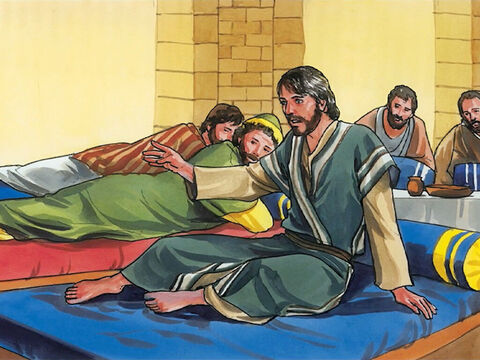 So Jesus said, 'Leave her alone. She has kept it for the day of my burial. – Slide 6