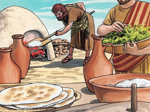 So the disciples did as Jesus had instructed them, and they prepared the Passover. – Slide 3