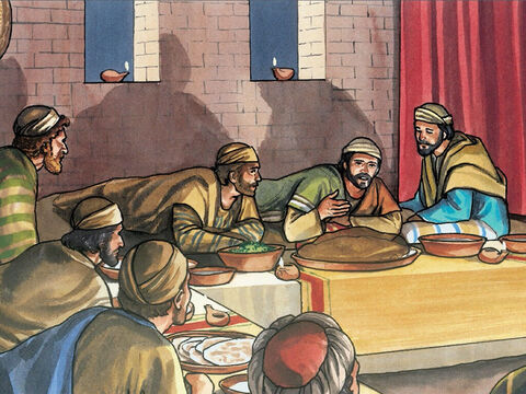 When it was evening, Jesus took his place at the table with the twelve. – Slide 4