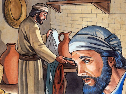 Jesus then got up from the meal, removed His outer clothes, took a towel and tied it around Himself. – Slide 5