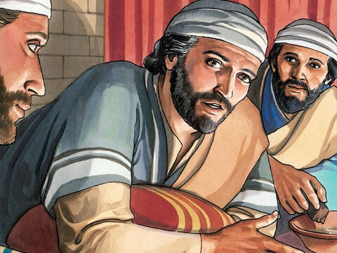 "So when Jesus had washed their feet and put His outer clothing back on, He took his place at the table again and said to them, 'Do you understand what I have done for you? You call me ""Teacher"" and ""Lord,"" and do so correctly, for that is what I am. – Slide 11"
