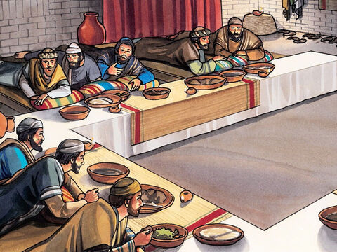 The disciples began to look at one another, worried and perplexed to know which of them He was talking about. – Slide 2