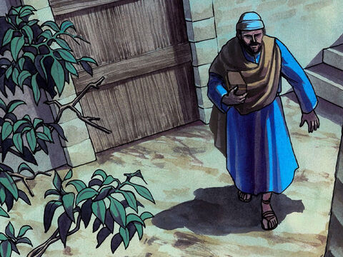 Judas took the piece of bread and went out immediately. (Now it was night.) – Slide 8