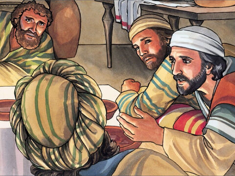 """Then Jesus said to them, 'This night you will all fall away because of me, for it is written: """"I will strike the shepherd, and the sheep of the flock will be scattered."""" But after I am raised, I will go ahead of you into Galilee.' – Slide 9"""