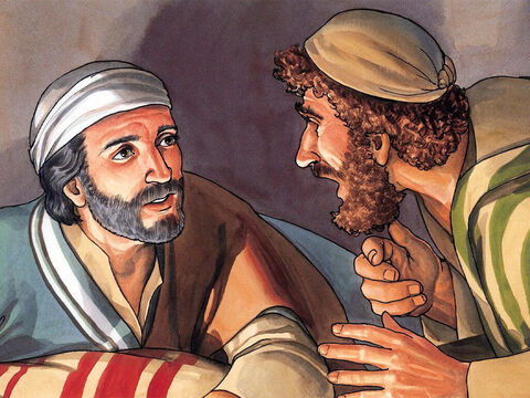 Peter said to Him, 'Even if I must die with you, I will never deny you.' And all the disciples said the same thing. – Slide 12