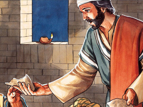 While they were eating, Jesus took bread, and after giving thanks He broke it … – Slide 13