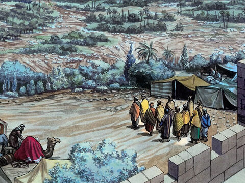 After singing a hymn, they went out to the Mount of Olives. – Slide 18