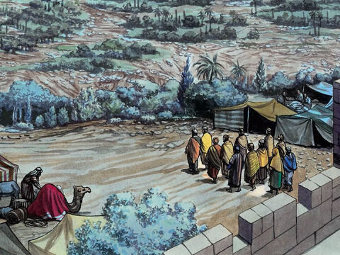 Then Jesus went out and made His way, as He customarily did, to the Mount of Olives, and the disciples followed Him. – Slide 1