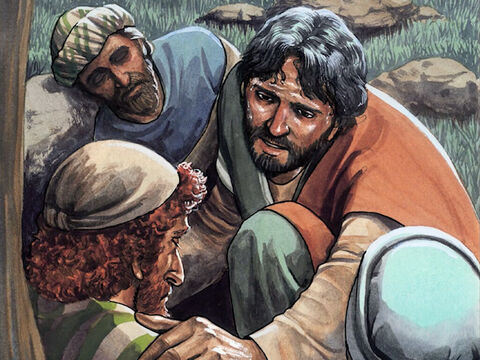 Then He came and found them sleeping, and said to Peter, 'Simon, are you sleeping? Couldn't you stay awake for one hour? Stay awake and pray that you will not fall into temptation. The spirit is willing, but the flesh is weak.' – Slide 7
