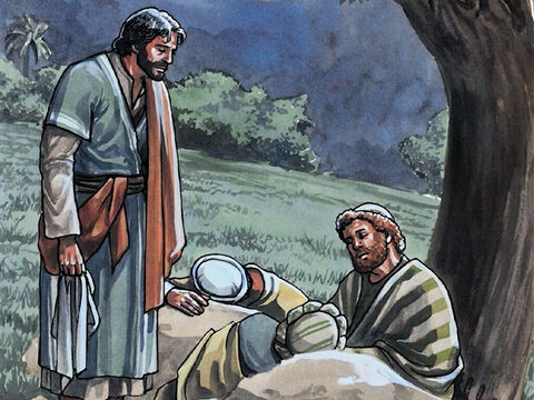 When Jesus came again He found them sleeping; they could not keep their eyes open. And they did not know what to tell Him. – Slide 9