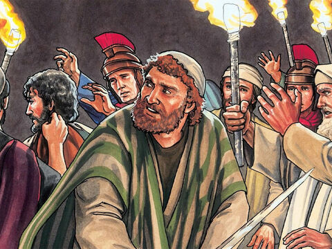 When those who were around Him saw what was about to happen, they said, 'Lord, should we use our swords?' – Slide 13
