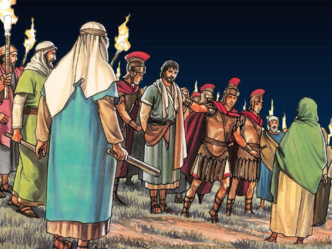 At that moment Jesus said to the crowd, 'Have you come out with swords and clubs to arrest me like you would an outlaw? – Slide 17
